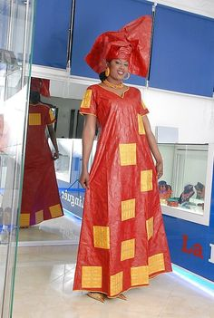 Red bazin riche with gold embroidery ~African fashion, Ankara, kitenge, African… African Dresses For Women, African Print Dresses, African Attire, African Fashion Dresses, African Women, Ghanaian Fashion, African Prints, African Inspired Fashion, Africa Fashion