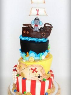 Pirate Topsy Turvy Cake