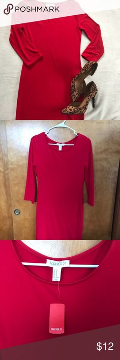 NWT Red Forever 21 Bodycon Dress size Medium Get this HOT 🔥🔥🔥 dress in your hands in time for Valentines Day! This dress is new with tags and will be sure to make your love interest 😍😍😍. The shoes are for sale in my closet as well to complete this stunning outfit. Bundle these and get a percentage off. Forever 21 Dresses Long Sleeve