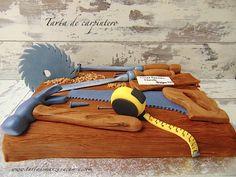 Tarat fondant carpintero-Carpenter fondant cake