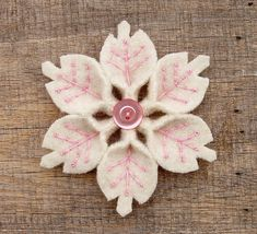 Snowflake Pin... I bet you could make this an ornament.  How cute would a small tree full of these in different colors