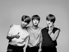 Rap Monster, Jin and V~ BTS X non-no Japanese Magazine~ #BTS #방탄소년단