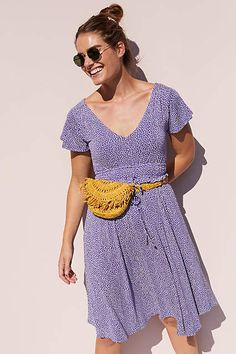 e4525058ed45 Maeve Resfeber Flutter-Sleeve Dress #ad #AnthroFave #AnthroRegistry  Anthropologie #Anthropologie #