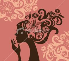 mulher silhouette.