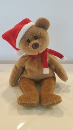 275f0dbbc3c Holiday Bear Original Ty Beanie Baby Vintage 1996 Collectible Soft Plush  Girl…