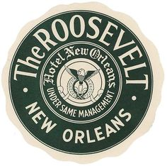 The Roosevelt New Orleans Hotel Luggage Baggage Label