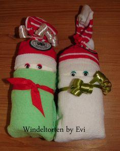Fussball Windelbabys, kleines und originelles Mitbringsel zur Geburt von Windeltorten By Evi auf DaWanda.com