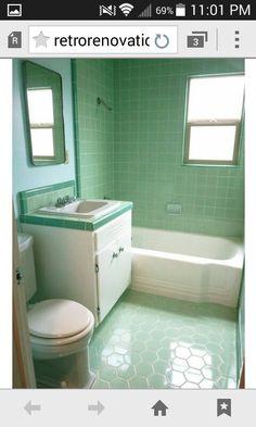 Tiles : Green Tile Bathroom Makeover Decorate Mint Green Tile Bathroom  Green Tile Bathroom Floor Mint Green Bathrooms Green Tile Bathroom Green  Bathroom ...