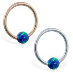 real gold captive bead ring with blue green opal ball Green Opal, Blue Opal, Blue Green, Gold Body Jewellery, Body Jewelry, Helix Piercing Jewelry, Daith Piercing, Body Piercing, Piercings