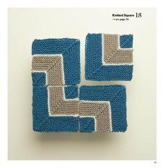 糸と色で楽しむ編み柄50 グラフィック ニット. Knitted Square