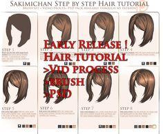 Full hair tutorial package release ! by sakimichan.deviantart.com on @deviantART