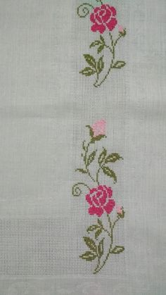 Cross Stitch Borders, Cross Stitch Animals, Cross Stitch Flowers, Cross Stitch Designs, Stitch Patterns, Hand Embroidery Videos, Bargello, Cross Stitch Embroidery, Diy And Crafts