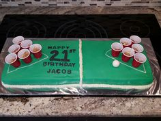 21 Birthday Cake Beer Pong