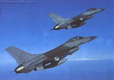 General Dynamics F-16 Fighting Falcon- Multi Role Fighter/Bomber. A formation of Pakistan Air Force  F-16s on a Combat Air Patrol. Tue September 16, 2003 ·