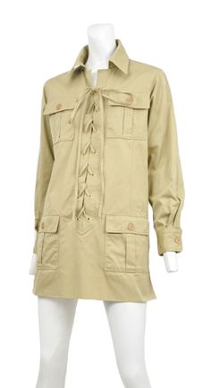 Authentic vintage YSL from Resurrection Vintage CLASSIC 1960s SAFARI TUNIC