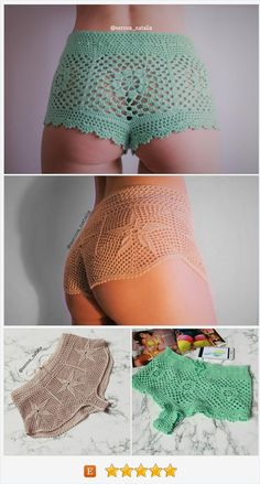 PDF patterns are available in my etsy shop! #crochetshorts #crochetbottom #crochetpattern #crochetbeachwear