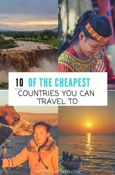 10 Of The Cheapest Countries To Visit (Around The World) These 10 countries are some of the cheapest that you can visit as of and are a budget travellers dream for cheap travel. Travel List, Travel Advice, Budget Travel, Travel Guides, Travel Hacks, Travel Deals, Travel Jobs, Shopping Travel, Air Travel