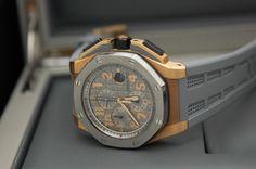 Audemars Piguet Royal Oak Offshore CHRONOGRAPH LEBRON JAMES  18-carat rose  gold case, titanium bezel. Limited Edition of 600.