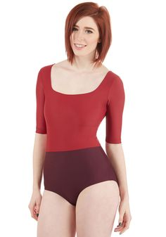 Down-to-Surf One-Piece Swimsuit. Jump into this colorblocked swimsuit by Seea for shoreline style as authentic as is your character! #red #modcloth