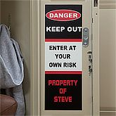 Boys Personalized Locker Decorations - Keep Out - 10592
