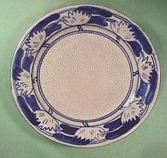 Pond Lily Plate by Dedham Pottery (marked) from about 1910