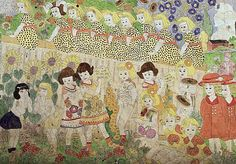 Henry Darger - colors, flowers, patterns