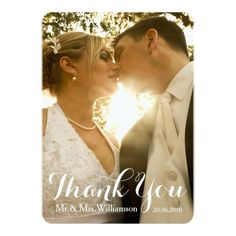 Simple Wedding Invitations Simple Handwriting Wedding Photo Thank You Card