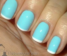 I love the white tips. I'm a huge fan of french manis, so definitely gonna try this! You can do this with lots of colors, I know pink and orange are super cute with an accent! <3