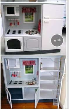 Kitchenette for the kids....from old furniture