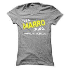 Its a MARRO Thing - #tee women #tshirt typography. TRY => https://www.sunfrog.com/Christmas/Its-a-MARRO-Thing-SportsGrey-fs5e-Ladies.html?68278