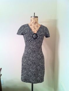 Vintage Howard Wolf of Dallas Polka Dot Dress by PetitChatVintage, $20.00