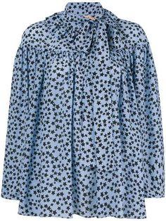Prêt-à-porter WOMEN – #byOOTD Tie Neck Blouse, N21, Star Print, Luxury Fashion, Women Wear, Shirt Dress, Stars, Long Sleeve, Mens Tops