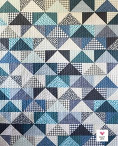 Twin Quilt Pattern, Heart Quilt Pattern, Scrappy Quilt Patterns, Scrappy Quilts, Quilting Tips, Quilting Designs, Patchwork Designs, Quilts Using Fat Quarters, Flying Geese Quilt