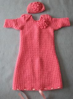 Crochet Pattern Pink Flower Infant Sweet by DonnasCrochetDesigns
