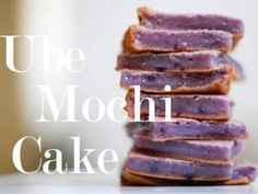 Ube Mochi cake - Purple yams, ube, whatever you may call them, are delicious. Lately, my house has been inhaling these beautiful little sweet potatoes. Pinoy Dessert, Filipino Desserts, Asian Desserts, Filipino Food, Filipino Recipes, Pinoy Food, Filipino Dishes, Hawaiian Desserts, Asian Snacks