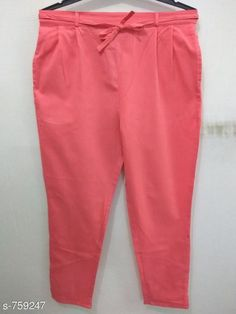 Checkout this latest Women Trousers Product Name: *Stylish Cotton Flex Women's Pant* Fabric: Cotton Flex Waist Size: S- 22 in to 26 in M - 26 in to 30 in L - 30 in to 34 in XL - 34 in to 38 in XXL - 38 in to 42 in 3XL- 42 to 46 in Length: Up To 40 in           Type: Stitched Description: It Has 1 Piece Of Women's Pencil Pant Pattern: Solid Country of Origin: India Easy Returns Available In Case Of Any Issue   Catalog Rating: ★4 (464)  Catalog Name: Stylish Premium Cotton Flex Pencil Pants Vol 1 CatalogID_86466 C79-SC1034 Code: 123-759247-957