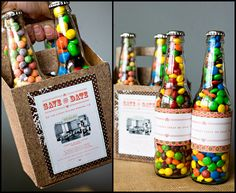Upcycle some glass soda bottles to make a cute gift or favors! (I just need to learn how to re-attach the lid!)