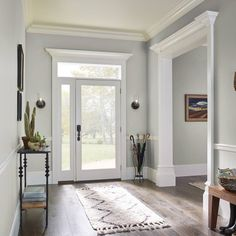 8 Best Foyer Paint Colors For Home Ideas Taupe Paint Colors, Interior Paint Colors, Paint Colors For Home, Interior Design, Foyer Paint Colors, House Paint Interior, Exterior Paint, Interior And Exterior, Interior Window Trim