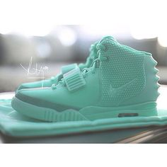Tiffany Mint Air Yeezy 2 Custom. #sneakers
