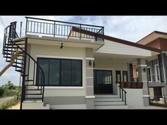 Looking for a house design that is ideal for small family and with your small budget? Flat House Design, Modern Bungalow House Design, House Roof Design, Two Story House Design, Village House Design, Simple House Design, Home Building Design, Bungalow House Plans, Modern Small House Design