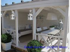 Do you want to have a design gazebo in your garden? We offer perfect gazebo decors for you. the most beautiful arbor of your home garden, pool, you can make your life more beautiful. these gazebos are made of wood and are very healthy. Outdoor Rooms, Outdoor Living, Outdoor Decor, Outdoor Patios, Outdoor Sheds, Outdoor Kitchens, Outdoor Seating, Garden Cottage, Home And Garden