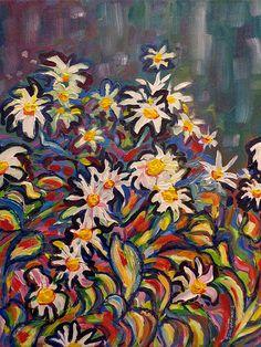 Mom's Daisies - By Morgan Ralston, 2003.