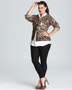 Love this animal print cardigan. A very classic look with a modern twist
