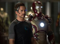 Tony Stark and his Iron Man suit