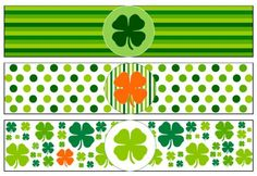 Printables for your St. Patrick's Day party! Simply print out what you like and start decorating for a one-a-kind party. From clover garland and cupcake/garnish flags to cup wraps and napkin rings your guests will be green with envy! charmcityconcierge.wordpress.com