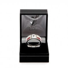 Birthday Gift Idea For Men And Boys A Great Christmas Liverpool FC Official Football Gift Black Inlay Bracelet