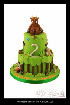 Gruffalo cake - Little Cherry Cake Company Cupcakes, Cupcake Cakes, Gruffalo Party, 2 Birthday Cake, Birthday Ideas, Birthday Parties, Birthday Cards, Cherry Cake, Character Cakes
