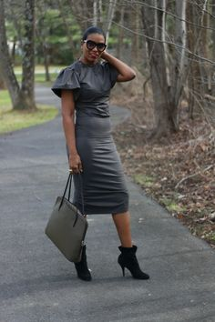 Beaute' J'adore-DIY dual zipper pencil dress #diyfashion