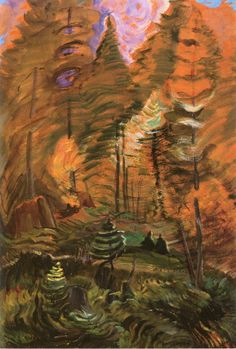 Young and Old Forest, B.C. (study for Something Unnamed). 1936. Emily Carr