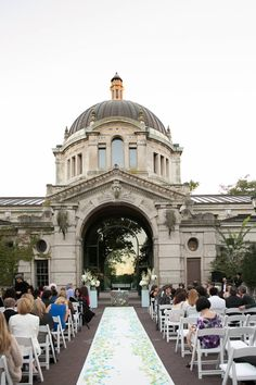 Bronx Zoo Wedding Ceremony at the historical Zoo Center